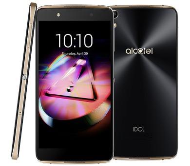 """Mobilní telefon ALCATEL IDOL 4 6055K 5,2"""" + VR box - černý/zlatý"""