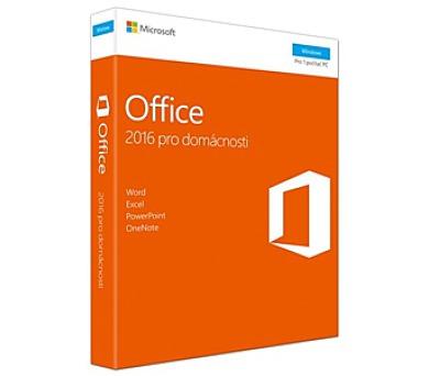 Microsoft Office 2016 CZ pro domácnosti