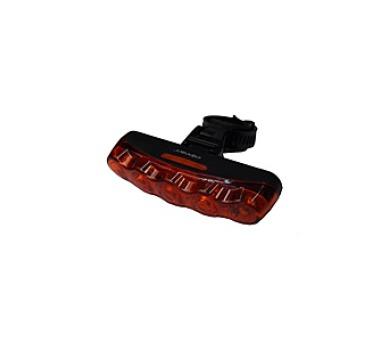 kolo Olpran 5 červené LED zadní - černá/červená