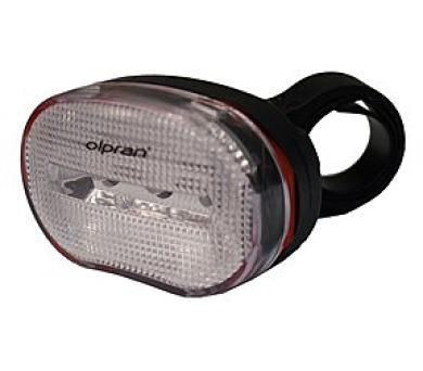kolo Olpran 3 bílé LED přední - černá