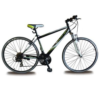 """kolo Olpran 2016 Maverick 28"""" steel size 17"""" pánské s bezpečnostními prvky - černá/bílá/zelená barva"""