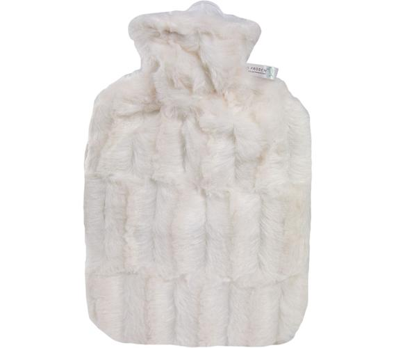 Termofor Hugo Frosch Classic s obalem z umělé kožešiny – bílý s podšívkou