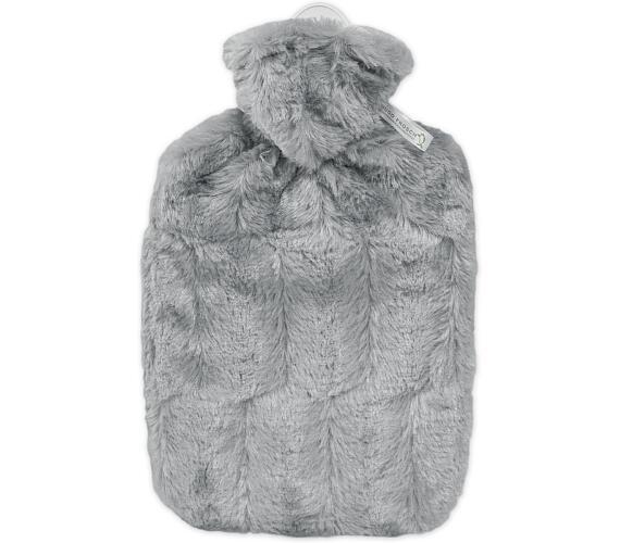 Termofor Hugo Frosch Classic s obalem z umělé kožešiny – šedý