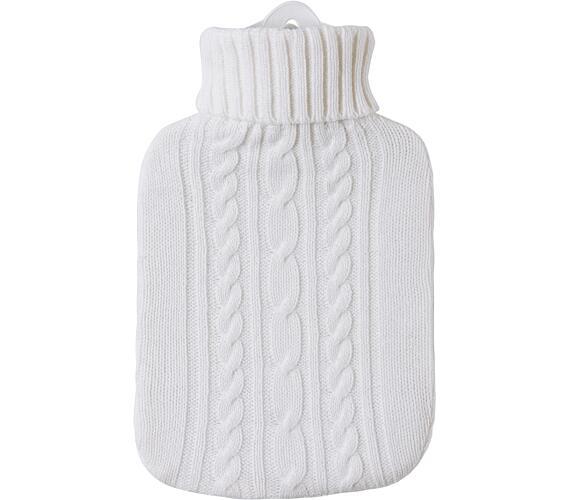 Termofor Hugo Frosch Classic s bílým pleteným obalem