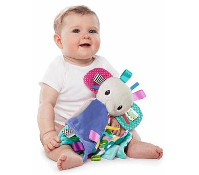 Mazlíček Bright Starts Cuddle'n Tag™ slon