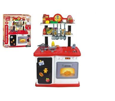 Kuchyňka plast 97,8x37,5x62,9cm na baterie se zvukem se světlem 30ks v krabici 61,5x76x17cm + DOPRAVA ZDARMA