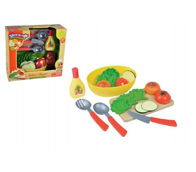 Krájecí sada zelenina s prkénkem 20ks plast v krabici 31x28x10cm