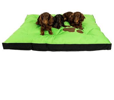 Samohýl Boseň neon s tlapou / nylon 120 x 100 x 10 cm - zelená + DOPRAVA ZDARMA