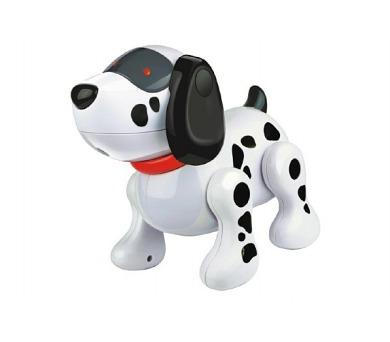 Interaktivní pes MAX plast 20cm na baterie se zvukem se světlem v krabici + DOPRAVA ZDARMA