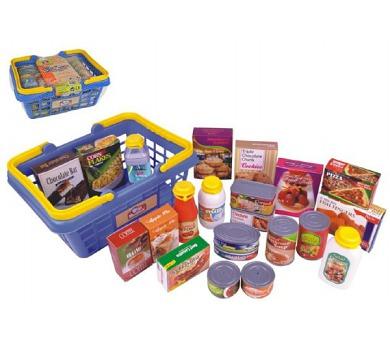 Nákupní košík s potravinami 23ks plast 28x13x21cm v síťce bbd45f4f8e