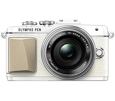 Olympus E PL7 1442 Pancake Zoom bílá/stříbrná