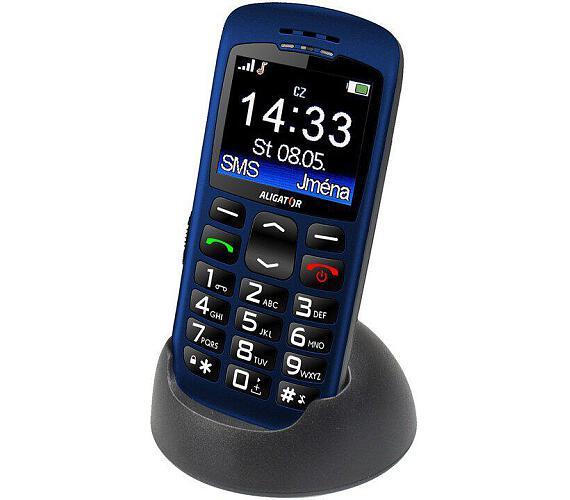 Mobilní telefon Aligator A670 Senior - modrý