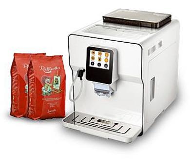 Kávovar LUCAFFE Raffaello Latte Pro White + voucher na 1,4kg zrnkové kávy