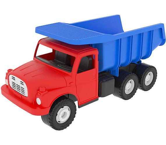Auto Tatra 148 plast 30cm červenomodrá sklápěč v krabici + DOPRAVA ZDARMA