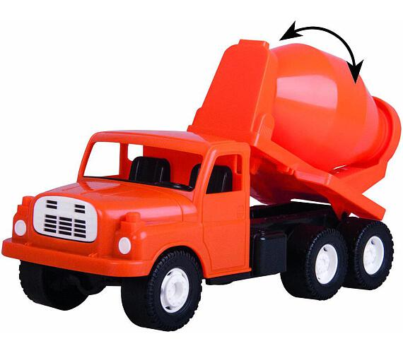 Auto Tatra 148 plast 30cm domíchávač oranžová v krabici + DOPRAVA ZDARMA