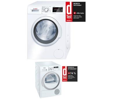SET Pračka Bosch WAT24360BY + Sušička Siemens WT66B200BY kondenzační