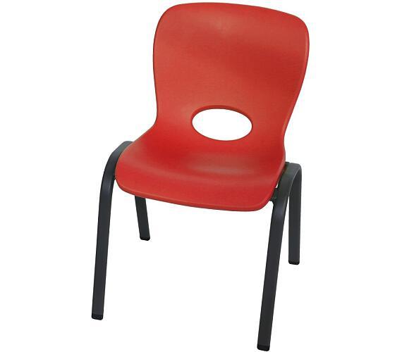 Dětská židle červená Lanit Plast LIFETIME 80511