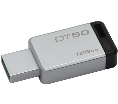KINGSTON DT50 128GB / USB 3.0 / kovová / černá (DT50/128GB)