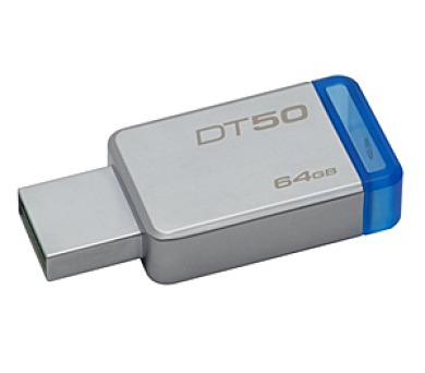 Kingston DataTraveler 50 64GB USB 3.0 - modrý/kovový