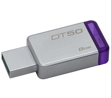 Kingston DataTraveler 50 8GB USB 3.0 - fialový/kovový