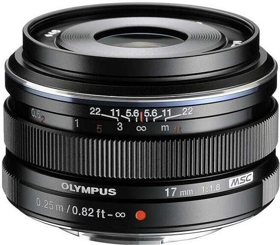 Olympus EW-M1718 - 17mm f1.8 black + DOPRAVA ZDARMA