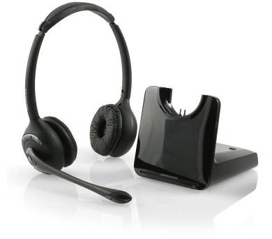 Plantronics bezdrátová náhlavní souprava na obě uši se sponou (CS520/A) + DOPRAVA ZDARMA
