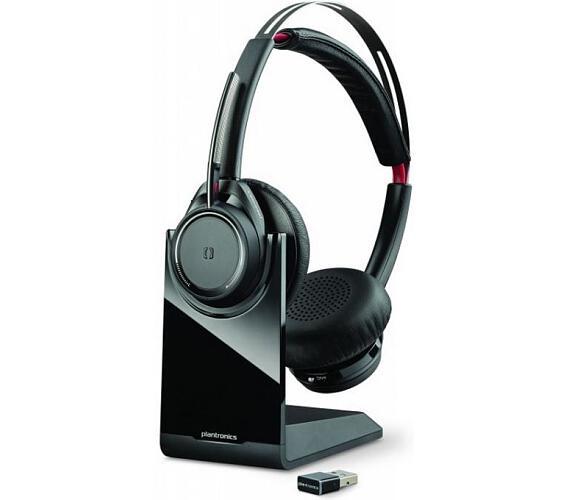 Plantronics náhlavní souprava na obě uši se sponou s dobíjecí stanicí Voyager Focus (B825) + DOPRAVA ZDARMA