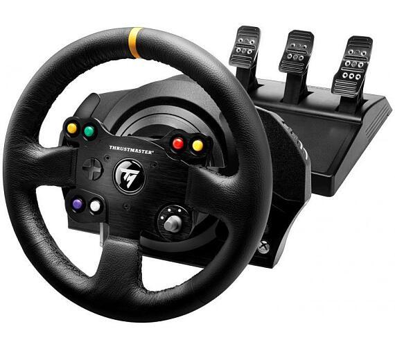 Thrustmaster Sada volantu a pedálů TX Leather Edition pro Xbox One a PC (4460133) + DOPRAVA ZDARMA