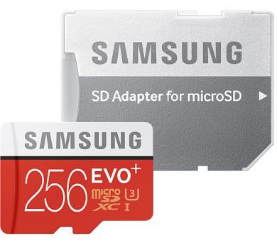 Samsung Micro SDXC EVO+ 256GB UHS-I U3 (95R/90W) + adapter
