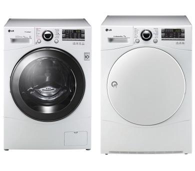 SET Pračka LG F74A8QDS + Sušička LG RC7055AH6M + CASHBACK 1.000 Kč ZPĚT*