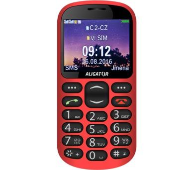 Aligator A880 GPS Senior - červený