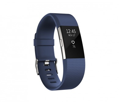 Fitbit Charge 2 large - Blue Silver