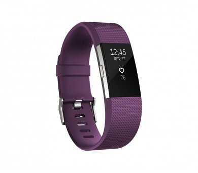 Fitbit Charge 2 large - Plum Silver + DOPRAVA ZDARMA