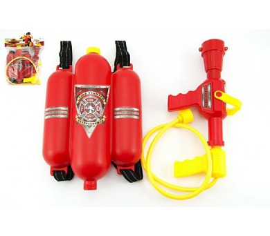 Sada malý hasič dělo na vodu 30cm + nádrž 20x30cm plast v sáčku + DOPRAVA ZDARMA