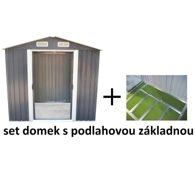 Set domek se základnou MAXTORE 810 šedý + DOPRAVA ZDARMA