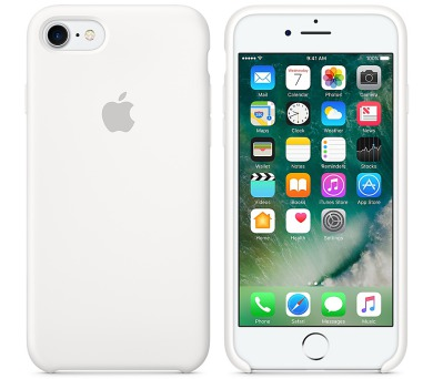 Apple Silicone Case pro iPhone 7 - bílý