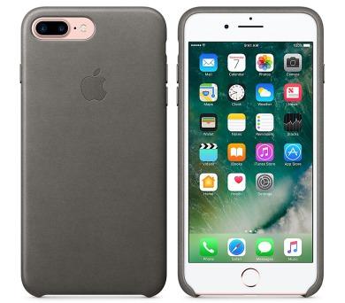 Apple Leather Case pro iPhone 8 Plus / 7 Plus - bouřkově šedý + DOPRAVA ZDARMA