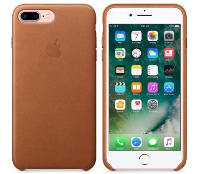 Apple Leather Case pro iPhone 8 Plus / 7 Plus - sedlově hnědý + DOPRAVA ZDARMA