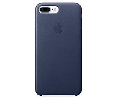 Apple Leather Case pro iPhone 8 Plus / 7 Plus - půlnočně modrý + DOPRAVA ZDARMA
