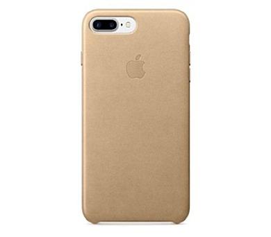 Apple Leather Case pro iPhone 8 Plus / 7 Plus - žlutohnědý