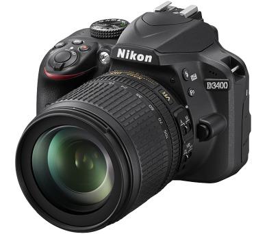 Nikon D3400 + 18-105 AF-S DX VR + ZDARMA powerbanka Nikon