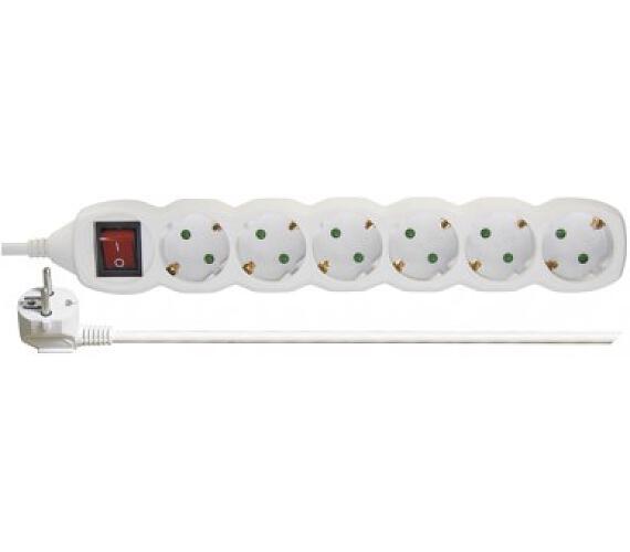 Prodlužovací kabel SCHUKO 6 zásuvek 5m 1,0mm s vypínačem