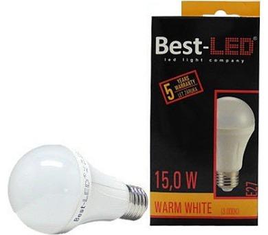 Best-Led E27 15W tep.bílá BA60-15-W