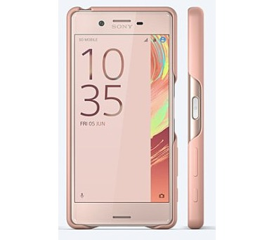 Sony Style Back Cover pro Xperia X Rose Gold