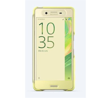Sony Style Cover Touch pro Xperia X Performance Lime Gold + DOPRAVA ZDARMA