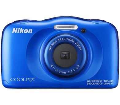 Nikon Coolpix W100 modrý + dětský batoh ZDARMA