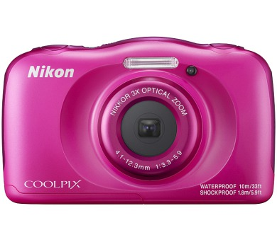 Nikon Coolpix W100 růžový + dětský batoh ZDARMA