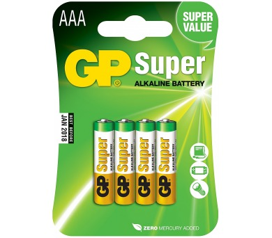 Alkalická mikrotužková baterie GP Super AAA
