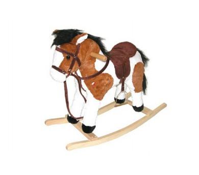 Kůň houpací plyš 60cm na baterie se zvukem nosnost 50kg v krabici + DOPRAVA ZDARMA