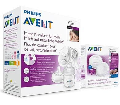 Philips AVENT Natural se zásobníkem 125ml + noční vložky 20ks